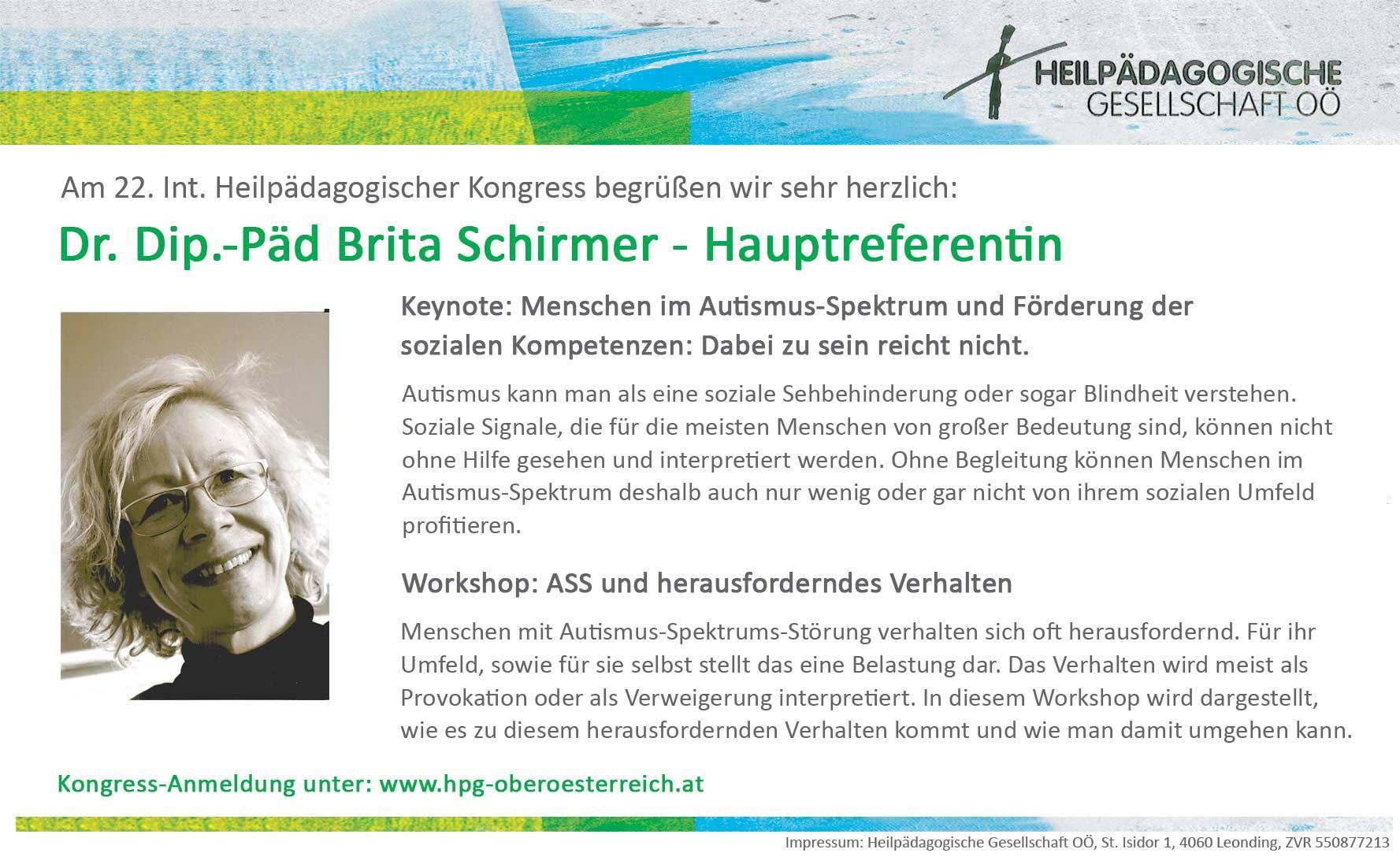 Britta Schirmer - Hauptreferentin