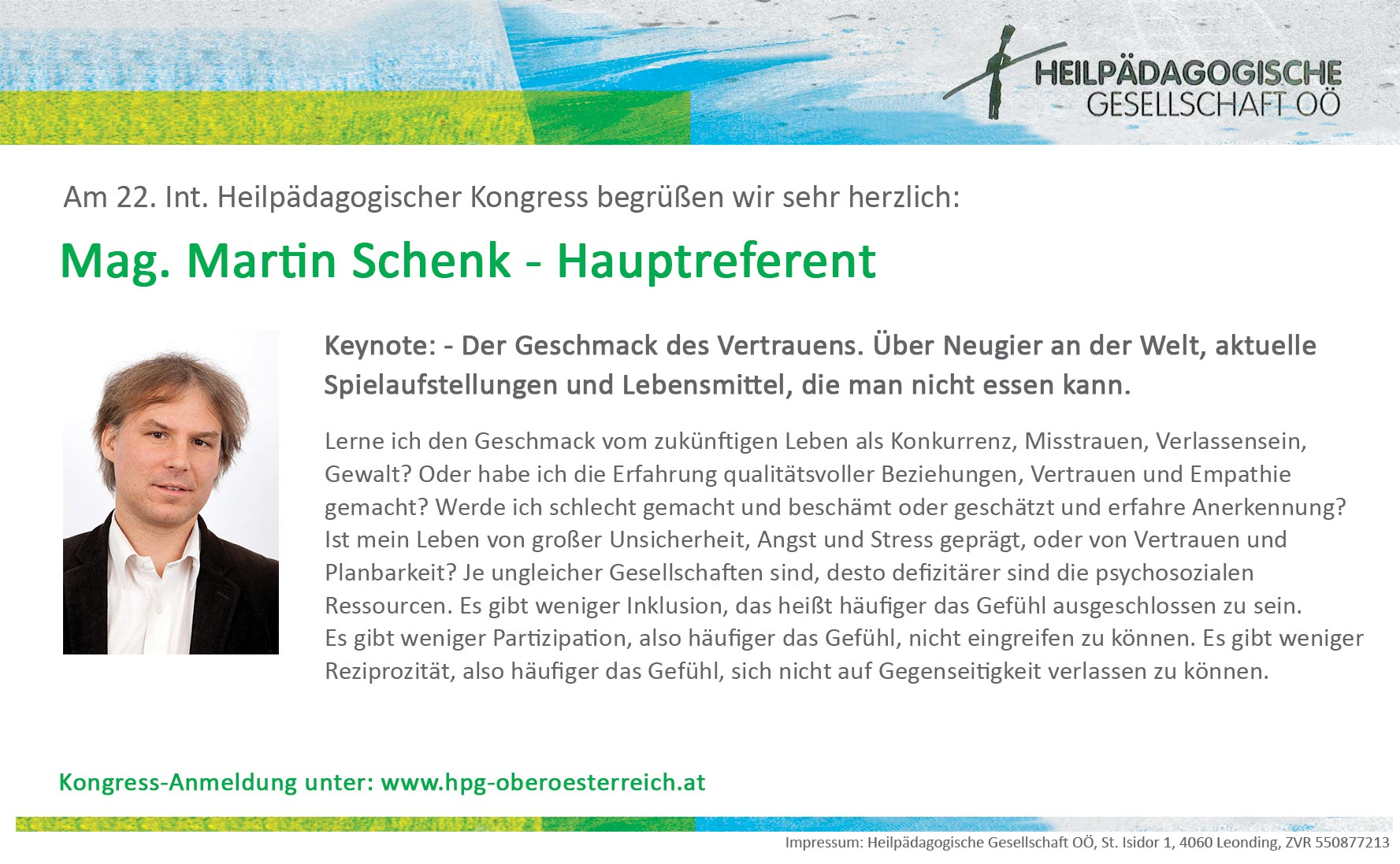 Joachim Bauer - Hauptreferent